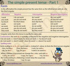 "Present Simple Rules in Spanish EXERCISES Watch this video and do the exercises below. Fill in all the gaps to make positive, negative and interrogative sentences, then press ""Check"" to…"