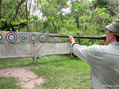 Native games - Blow pipe by the Murut Tribes.