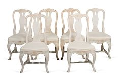 19th-C. Swedish Rococo Chairs, S/6 on OneKingsLane.com