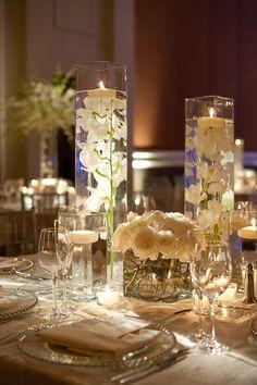 square vase wedding centrepiece