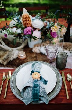 Check out our Whimsy Event Inspiration featuring Mist Marble napkins.