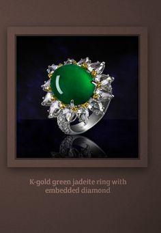 Green Jadelite and diamonds