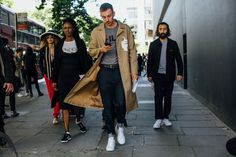 The best street style captures from the London Spring 2018 menswear shows.