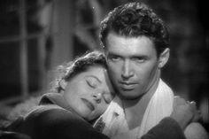 "James Stewart and Katherine Hepburn in "" The Philadelphia Story"""