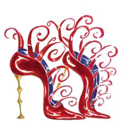 Love the heel  . TG          manolo shoe illustration
