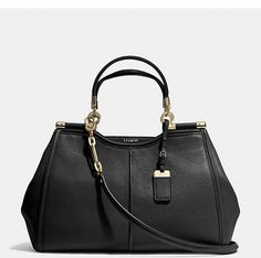 "Madison Pinnacle Caroline Satchel by Coach...great ""clutch"" style handbag."