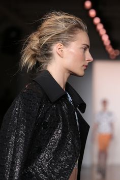 """""""Surf Style Meets Downtown"""", @Peter Som SS'14 collection. Hair by Eugene Souleiman. #nyfw #SebastianWNA"""