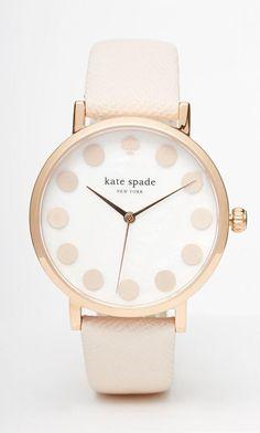 Kate Spade Metro Dot Tan Watch
