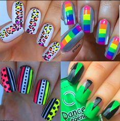 TOP 8 New Nail Art Design ❤️💅 Nails Art Ideas Compilation - Meister Projekt - Nageldesign Neon Nail Art, Nail Art Diy, Easy Nail Art, Diy Nails, Manicure, Comic Nail Art, Pop Art Nails, Neon Nail Designs, Nail Art Designs Videos