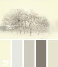 Dishfunctional Designs: January Palette: Winter Whites