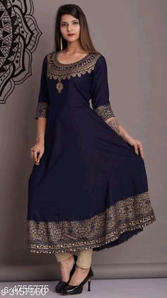 Kurtis & Kurtas Women's Printed Rayon Anarkali Kurti Fabric: Rayon Sleeve Length: Long Sleeves Pattern: Applique Combo of: Single Sizes: XL (Bust Size: 32 in Size Length: 20 in)  L (Bust Size: 32 in Size Length: 20 in)  M (Bust Size: 32 in Size Length: 20 in)  XXL (Bust Size: 32 in Size Length: 20 in) Country of Origin: India Sizes Available: S, M, L, XL, XXL   Catalog Rating: ★4.3 (459)  Catalog Name: Women's Printed Rayon Kurtis CatalogID_692315 C74-SC1001 Code: 234-4755775-5901