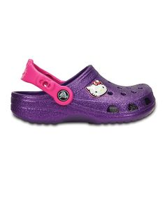 798006ade08eb Crocs Hello Kitty Neon Purple Glitter Clog - Toddler