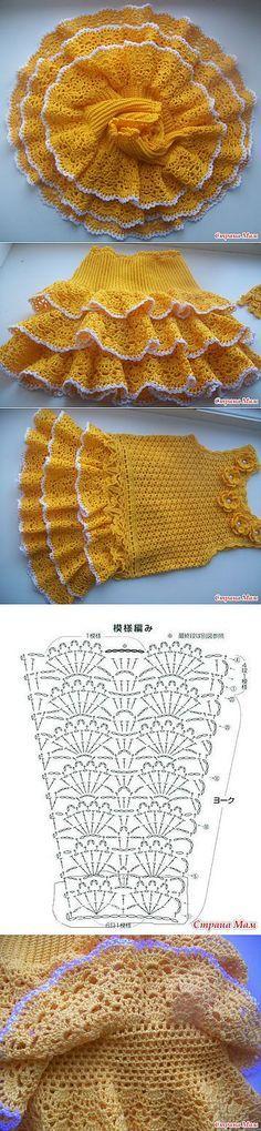 48 ideas crochet skirt girl mom for 2019 Crochet Motif, Crochet Designs, Crochet Lace, Crochet Stitches, Crochet Patterns, Baby Girl Crochet, Crochet Baby Clothes, Crochet For Kids, Crochet Skirts