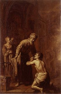 Dutch Artist, formerly attributed to Pieter Lastman (1583-1633):  The Prodigal Son returning to his Father