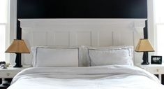fabriquer une tête de lit en bois avec porte blanche