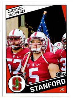 f4bd494e3 1984 topps style christian mccaffrey stanford rookie card rc 2016 heisman   rare from  6.99