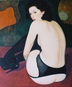 Paul Laurenzi, France {contemporary figurative art female discreet semi-nude posterior back woman painting} Pear ! Woman Painting, Figure Painting, Figure Drawing, Thomas Saliot, Carpeaux, Window Art, Erotic Art, Figurative Art, Female Art