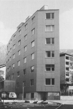 Peter Märkli - Wohnhaus, Brig 1995 Arch Architecture, Classic Architecture, Arch Building, Multi Story Building, Indoor Outdoor, Facade, Exterior, City, Ark