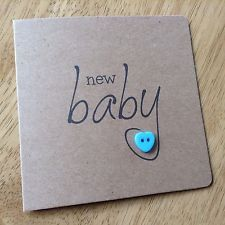 New baby cards handmade new 33 ideas Baby Boy Cards Handmade, New Baby Cards, How To Make An Envelope, Button Cards, Kids Cards, Cards Diy, Homemade Cards, Homemade Baby, Cardmaking