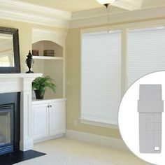 Best Window Treatments for Media Room - inexpensive automated blinds.