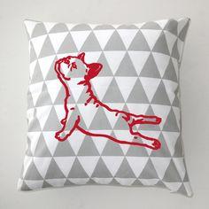 Almohada decorativa con French Bulldog Yoga