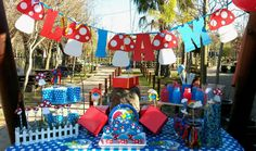 Smurfie fun party | PartyBoutique/ Kids party decor/ Bugzplaypark/ Cape Town