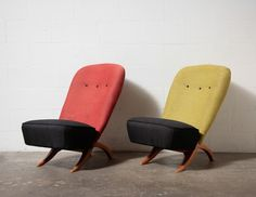 PAIR OF THEO RUTH CONGO CHAIRS THEO RUTH / ARTIFORT / Netherlands