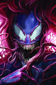 Marvel Comic Book Artwork • AMAZING SPIDER-MAN #29 Mary Jane Venomized Variant By Francesco Mattina. Available to buy at our online store www.7ate9comics.com