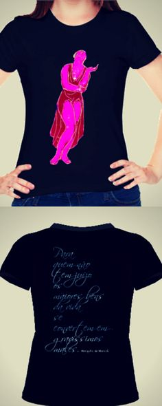 Isadora Duncan T-shirt, com  reflexão na parte de trás, disponivel em: http://www.vitrinepix.com.br/marquesmarica