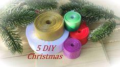 5 Diy Crafts, Ribbon Crafts, Foam Crafts, Diy Christmas Ornaments, The Creator, Handmade, Holidays, Youtube, Ribbons