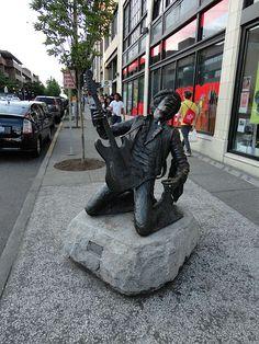 The Jimi Hendrix statue in Capitol Hill.