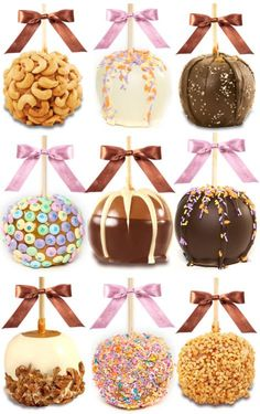 We could make an assortment, I saw some cute candy apple bags at ACMoore.  Then attach some cute thank you note =)