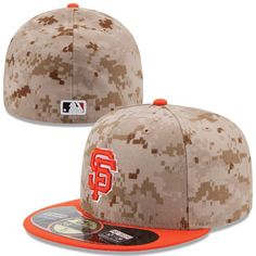 0036d0c3f33 Men s San Francisco Giants New Era Camo Orange Memorial Day 59FIFTY Fitted  Hat