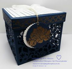 Ann's Happy Stampers: Beautiful Large Detailed Floral Thinlits Gift Box...