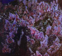 Lilac Painting by Mikhail Vrubel