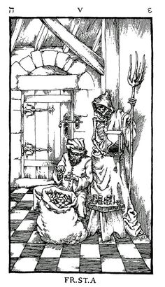 Woodcut Engraving from The Ninth Gate In Vain by Aristide Torchia