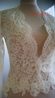 Bridal Tops, Bridal Lace, Wedding Jacket, Wedding Bolero, Wedding Sash, Lace Jacket, Marie, Blazers, Wedding Dresses