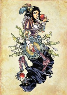 Steampunk Disney Characters – Marcel Perez