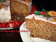 Βασιλόπιτα κέικ βουτύρου με καρύδια απο τη Σόφη Τσιώπου Greek Sweets, Greek Desserts, Greek Recipes, Xmas Food, Christmas Cooking, The Kitchen Food Network, New Year's Cake, Greek Dishes, Cupcakes