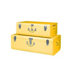 Set de 2 valises métal Miel  Hindigo