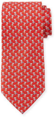 Hula Hooping Silk Tie #hooping#hula#print