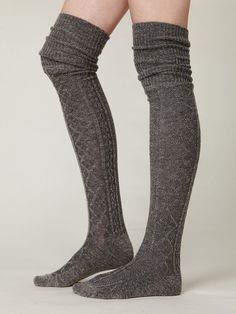free people high socks | Free People Vintage Sweater Tall Sock on Wanelo