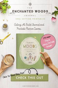 The Enchanted Woods Planner Journal Printables is a cross between bullet journaling and goal-setting printables. Although this is not your typical bullet journal, I took the best of both worlds and created something special with this magical theme. Printable Budget Sheets, Printable Coloring Sheets, Printable Planner, Free Printables, Wood Planner, Enchanted Wood, Goal Planning, Monthly Planner, Cute Stickers