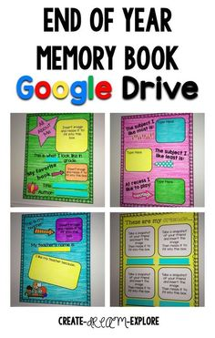Go digital with this end of the year memory book for use in google drive. Great for first, second, and third grade!