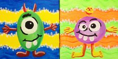 I am going to paint Mommy & Me - Monsters at Pinot's Palette - Ellicott City to discover my inner artist!