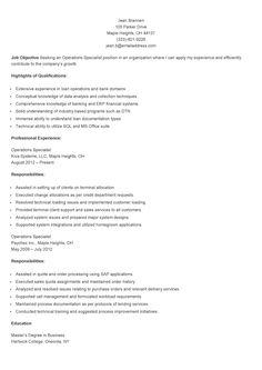resume html forward sample operations specialist resume