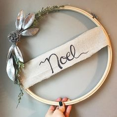 "Embroidery hoop ""wreath"""