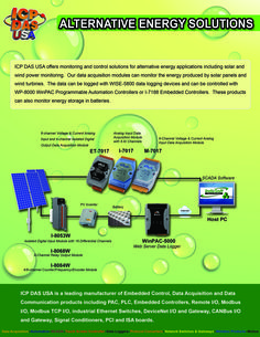 ICP DAS USA offers monitoring and control solutions for alternative energy applications including solar and wind power monitoring. Our data acquisition modules can monitor the energy produced by solar panels and wind turbines. The data can be logged with WISE-5800 data logging devices and can be controlled with WP-8000 WinPAC programmable automation controllers or I-7188 Embedded Controllers. Learn more: http://www.icpdas-usa.com/green_technology.html?r=pinterest