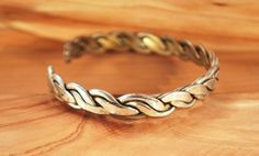Vintage Sterling Silver Braided Cuff Bracelet by MySongsDesigns, $34.00