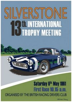 Silverstone 13th International Trophy Ferrari 250 SWB – by artist Simon May